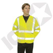 Trafikjakke m/ærmer EN 20471 kl. 3, gul