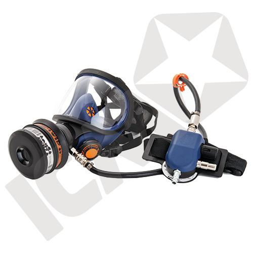 SR 200AL-A helmaske t/trykluft, glasrude