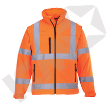 Softshell jakke EN 20471 kl. 3, orange