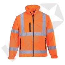 Softshell jakke EN 20471 kl. 3, orange