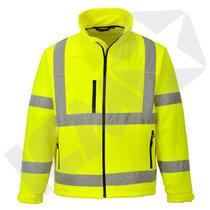 Softshell jakke EN20471 kl. 3 gul