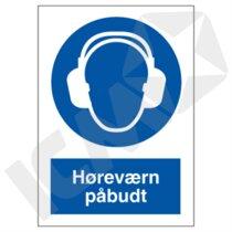 P204VA5 Høreværn påbudt  A5