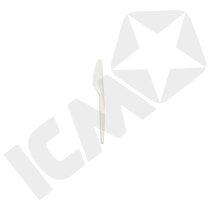 Kniv, hvid plast 17 cm, 20x100 stk