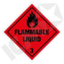 132298 Flammable Liquid kl. 3 fareseddel  250x250mm