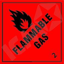 132255 Flammable Gas kl. 2 fareseddel  100x100mm