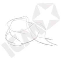 Snørebånd Elastisk 94 cm Hvid