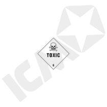 132264 Toxic/poison kl. 6 fareseddel  100x100mm