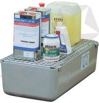 Cemo GFK Opsamlingskar med Galvaniseret Rist 65 L
