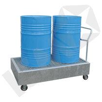 Lacont Opsamlingskar Galvaniseret Stål & Rist med Hjul 2 Tromler