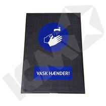 """BlueStar Entremåtte """"VASK HÆNDER"""""""